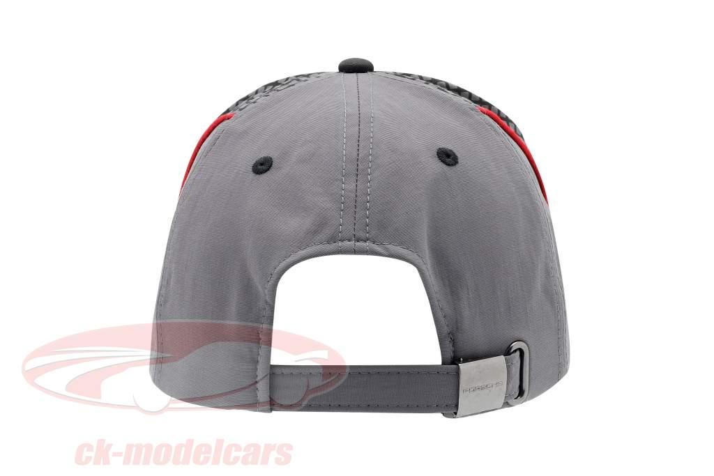 Porsche Baseball-Cap Racing Collection Gray / red