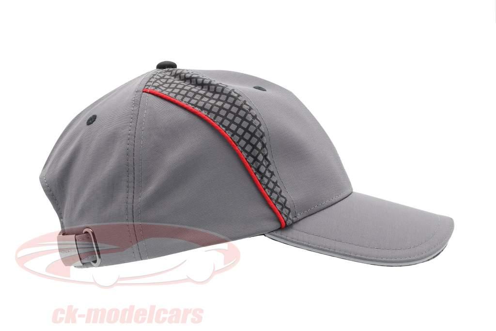 Porsche Baseball-Cap Racing Collection grau / rot