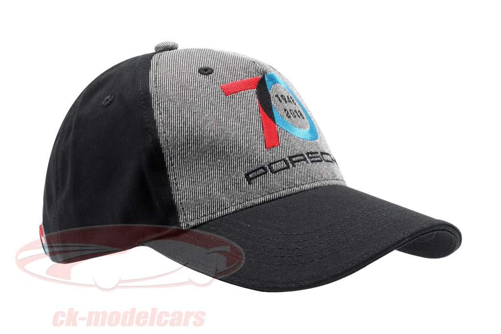 Porsche Baseball-Cap 70 Anos Porsche 1948 - 2018 Preto / cinzento