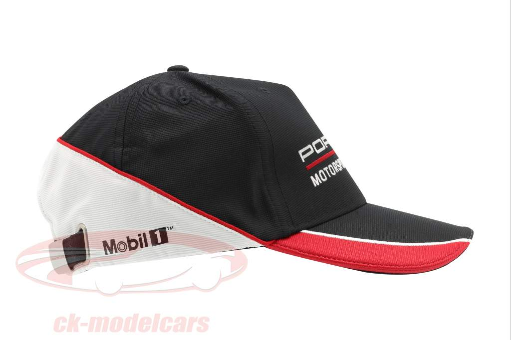 Porsche Motorsport Baseball-Cap Preto / vermelho / Branco