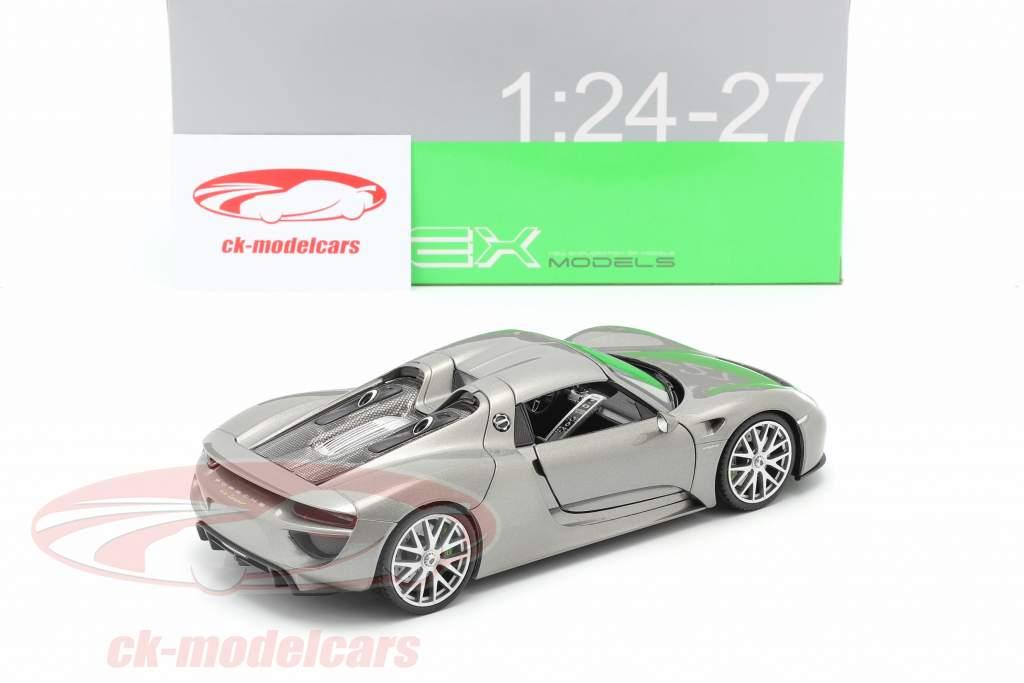 Porsche 918 Spyder année de construction 2015 gris métallique 1:24 Welly