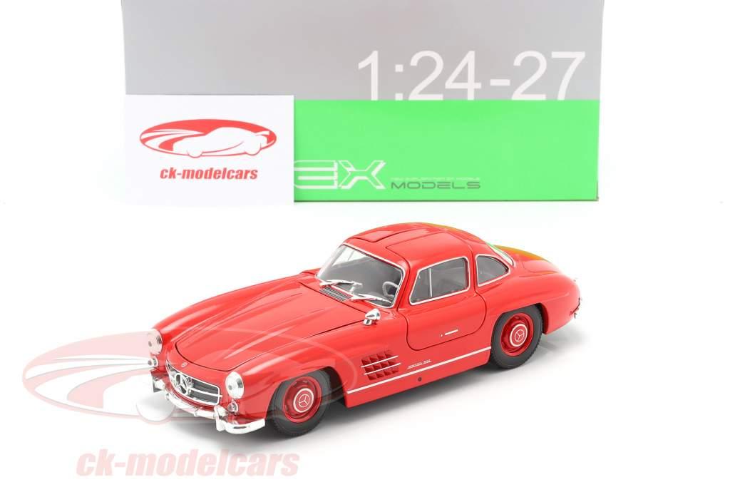 Mercedes-Benz 300 SL rød 1:24 Welly