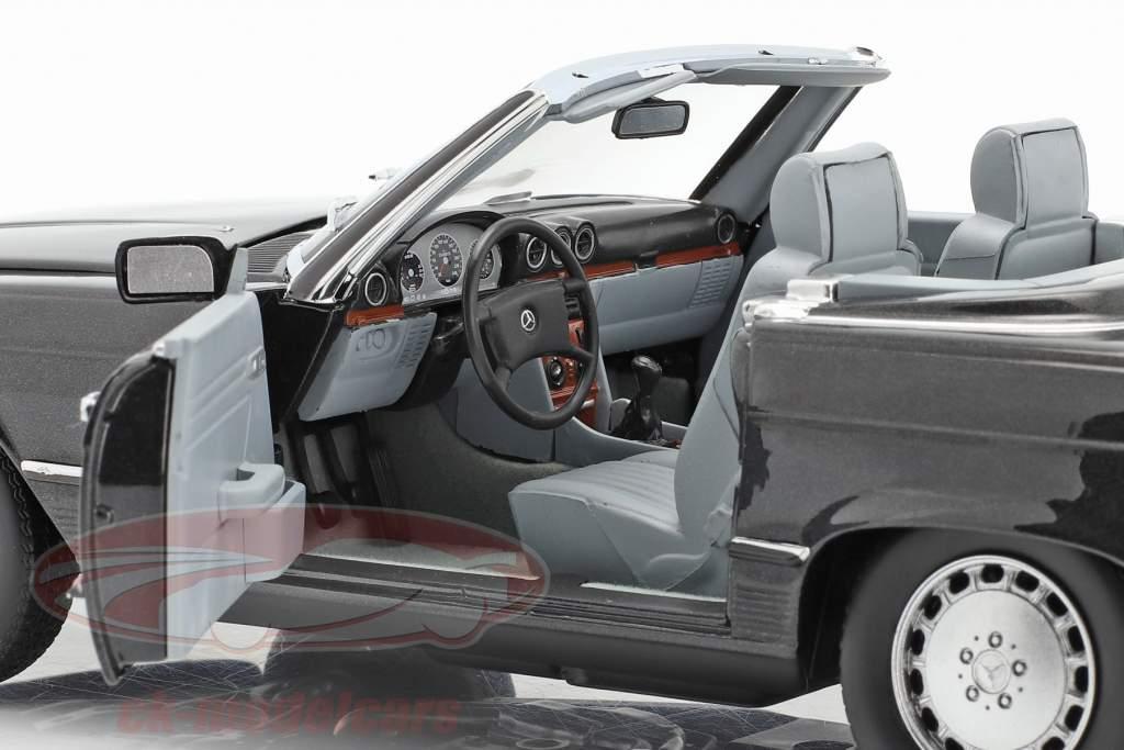 Mercedes-Benz 300 SL Convertible (R107) 1986 bleu Noir métallique 1:18 Norev