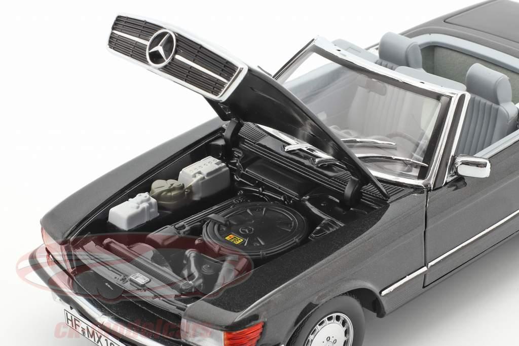 Mercedes-Benz 300 SL Cabriolet (R107) 1986 blåsorte metallisk 1:18 Norev
