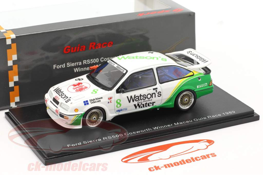 Ford Sierra RS500 Cosworth #8 Ganador Macau Guia Race 1989 Tim Harvey 1:43 Spark
