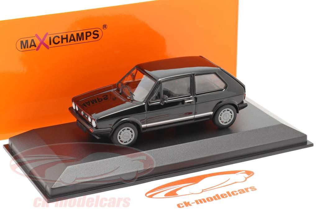 Volkswagen VW Golf 1 GTI Anno di costruzione 1983 nero 1:43 Minichamps