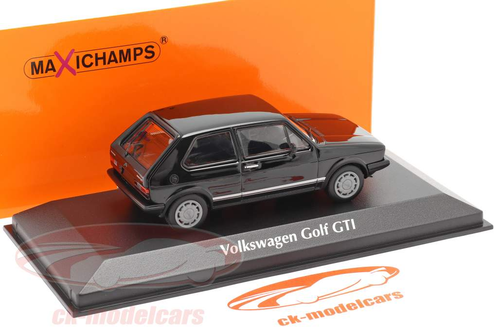Volkswagen VW Golf 1 GTI Bouwjaar 1983 zwart 1:43 Minichamps