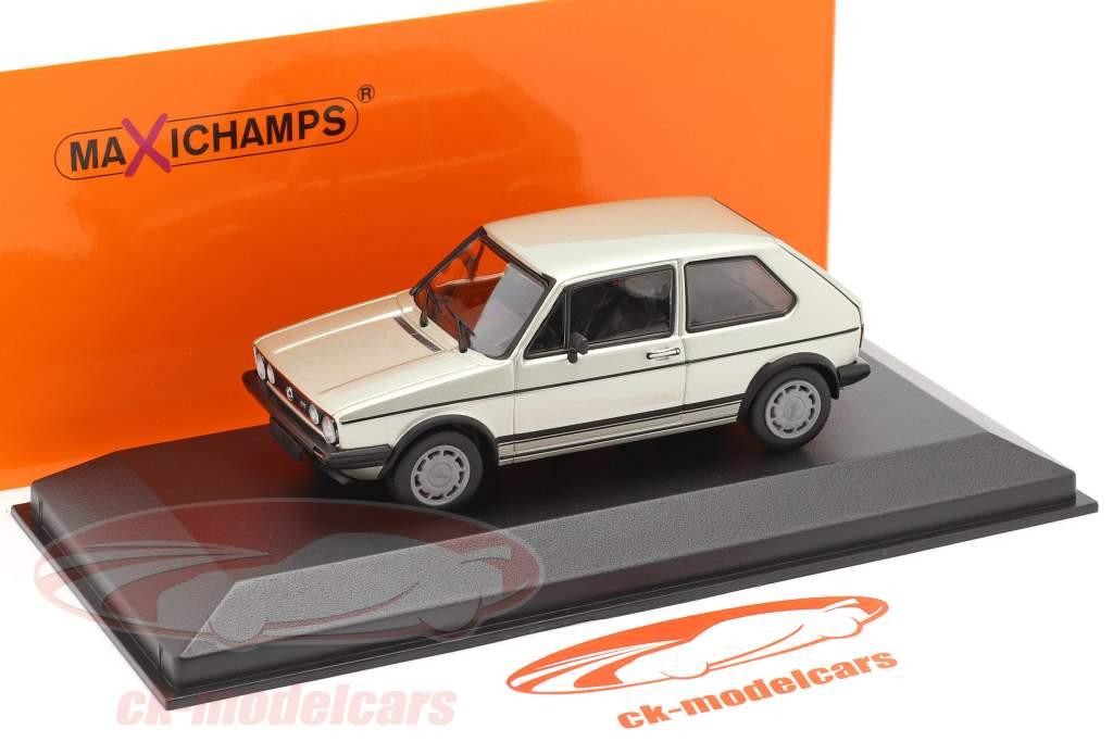 Volkswagen VW Golf 1 GTI Año de construcción 1983 plata metálico 1:43 Minichamps