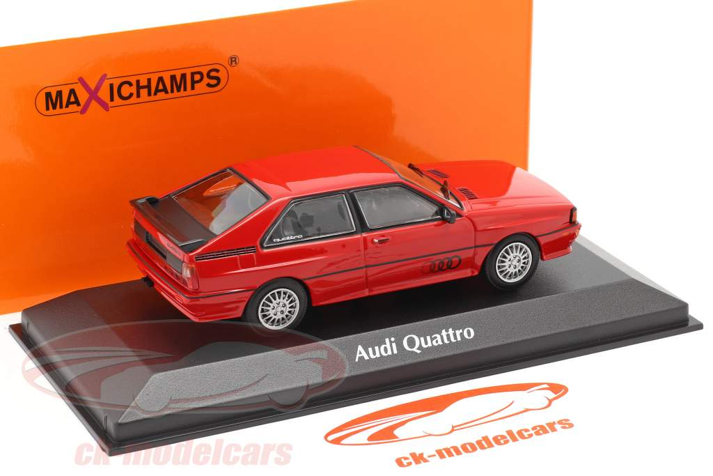 Audi Quattro Byggeår 1980 rød 1:43 Minichamps