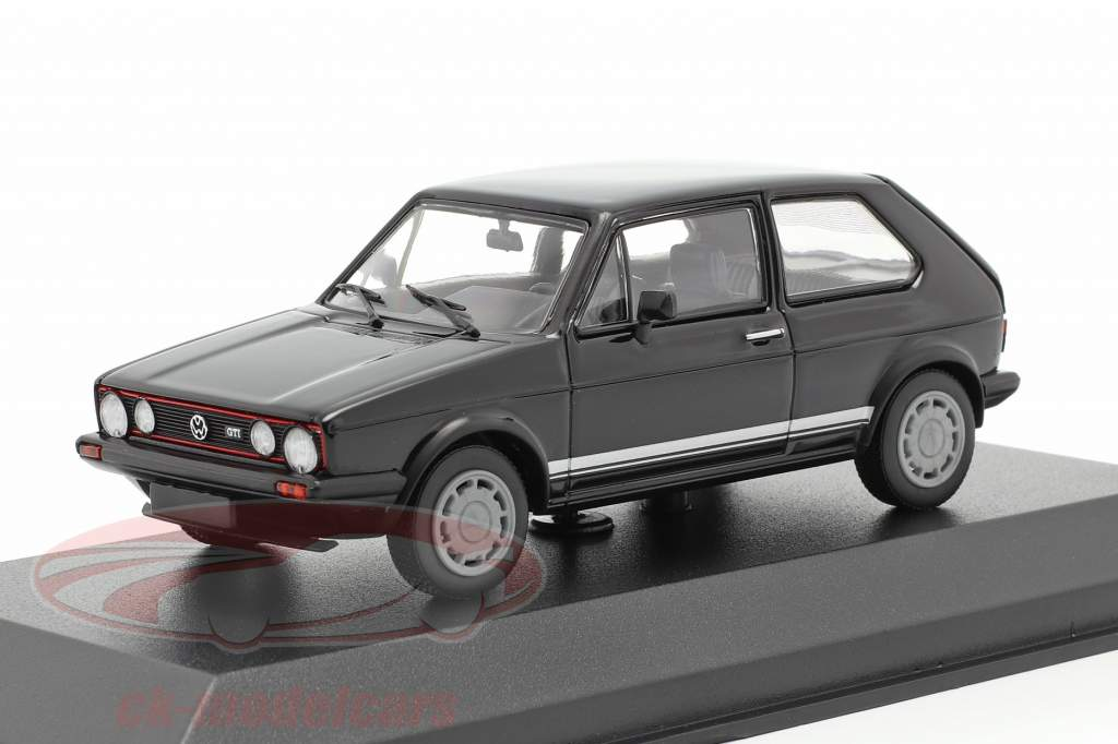 Volkswagen VW Golf 1 GTI Baujahr 1983 schwarz 1:43 Minichamps
