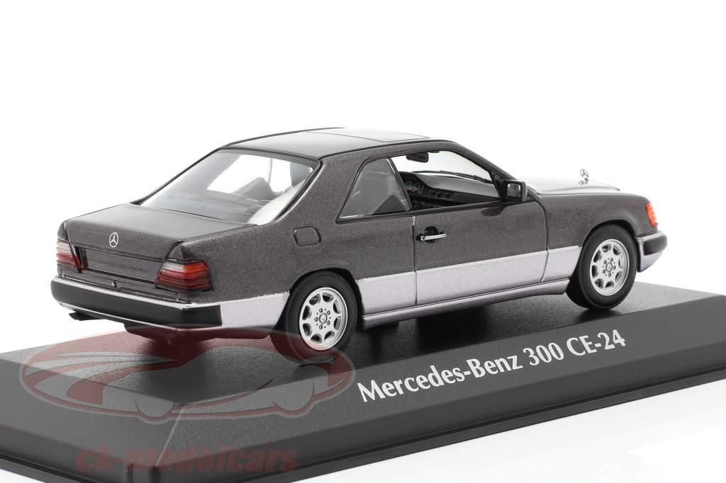 Mercedes-Benz 300 CE (C124) year 1991 dark purple metallic 1:43 Minichamps