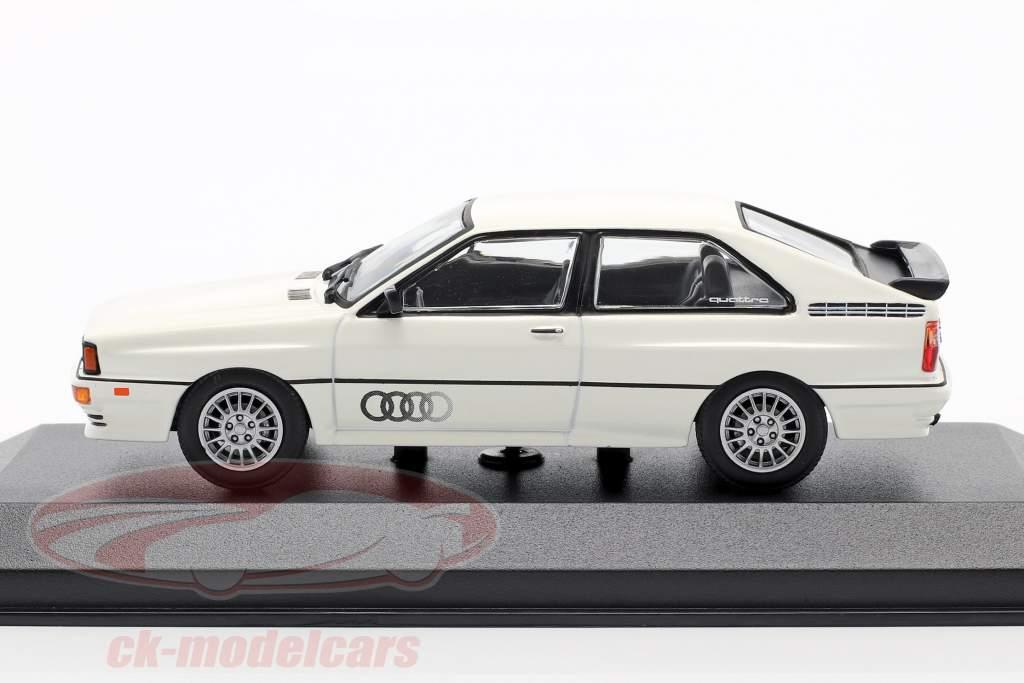 Audi Quattro Byggeår 1980 hvid 1:43 Minichamps