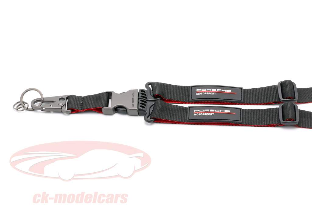 Acollador Porsche Motorsport negro / rojo
