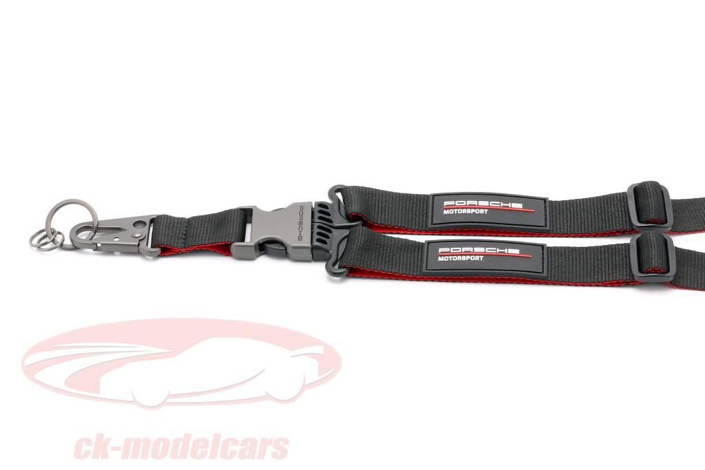 Lanyard Porsche Motorsport zwart / rood