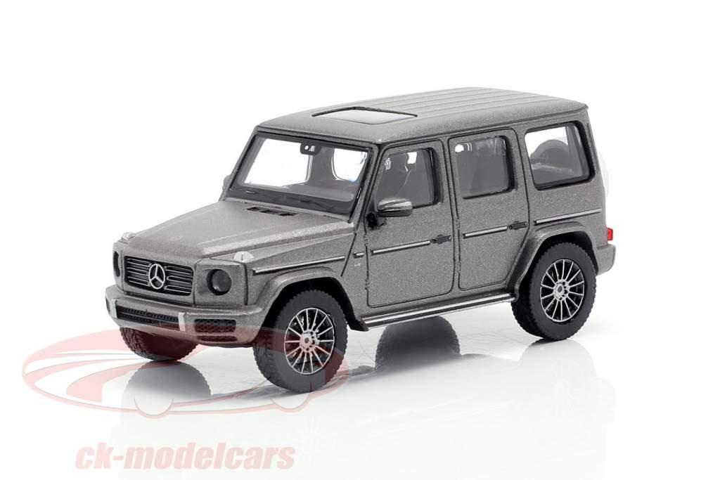 Mercedes-Benz Classe G (W463) Ano de construção 2018 designo platina magno 1:87 Minichamps