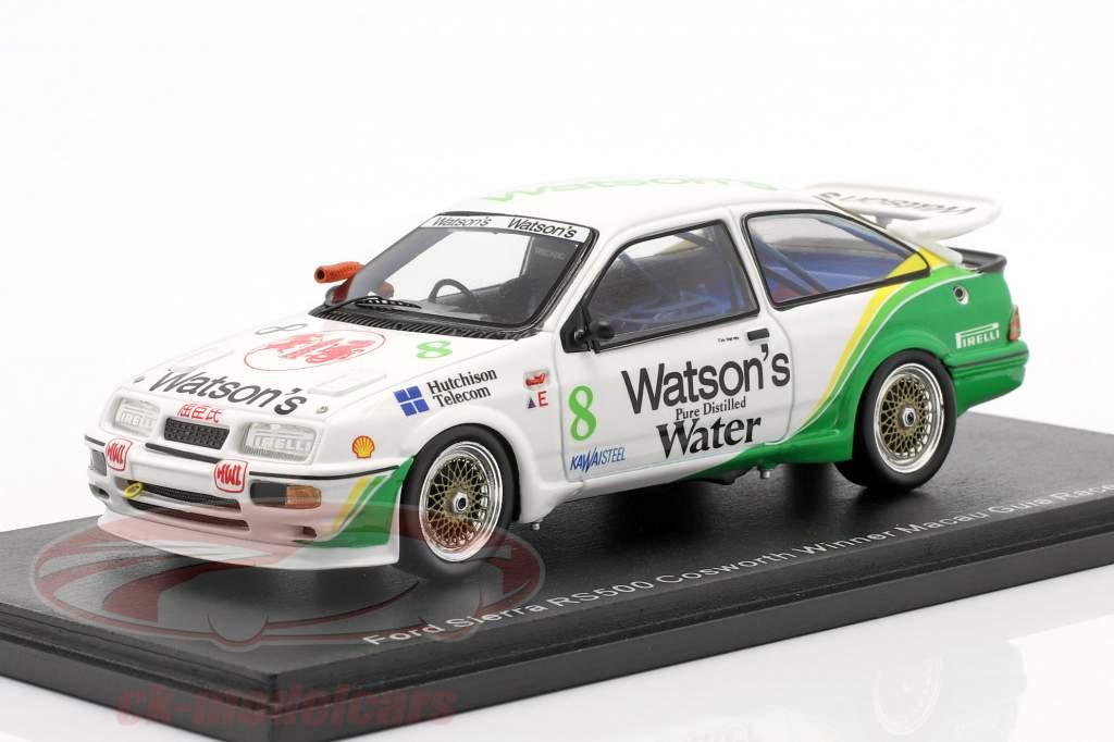 Ford Sierra RS500 Cosworth #8 Winnaar Macau Guia Race 1989 Tim Harvey 1:43 Spark