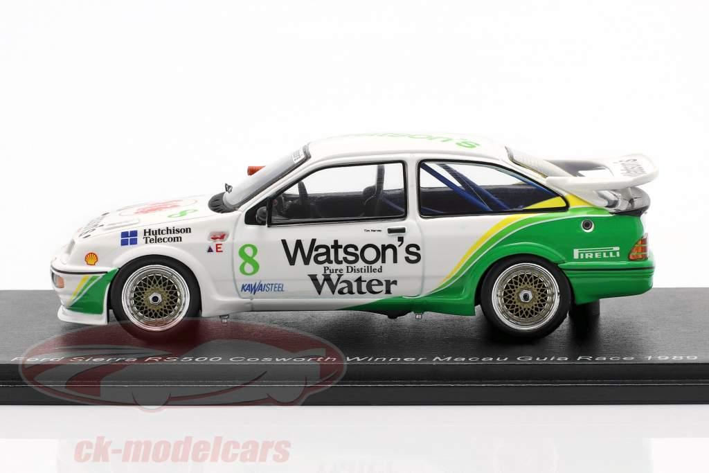 Ford Sierra RS500 Cosworth #8 Gagnant Macau Guia Race 1989 Tim Harvey 1:43 Spark