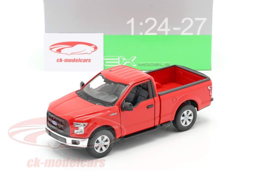 Ford F-150 Regular Cab år 2015 rød 1:24 Welly