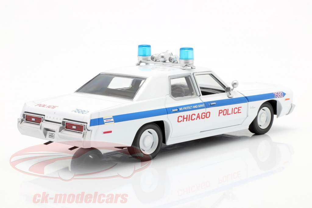 Dodge Monaco Chicago Police Department Blues Brothers 1980 weiß 1:24 Greenlight