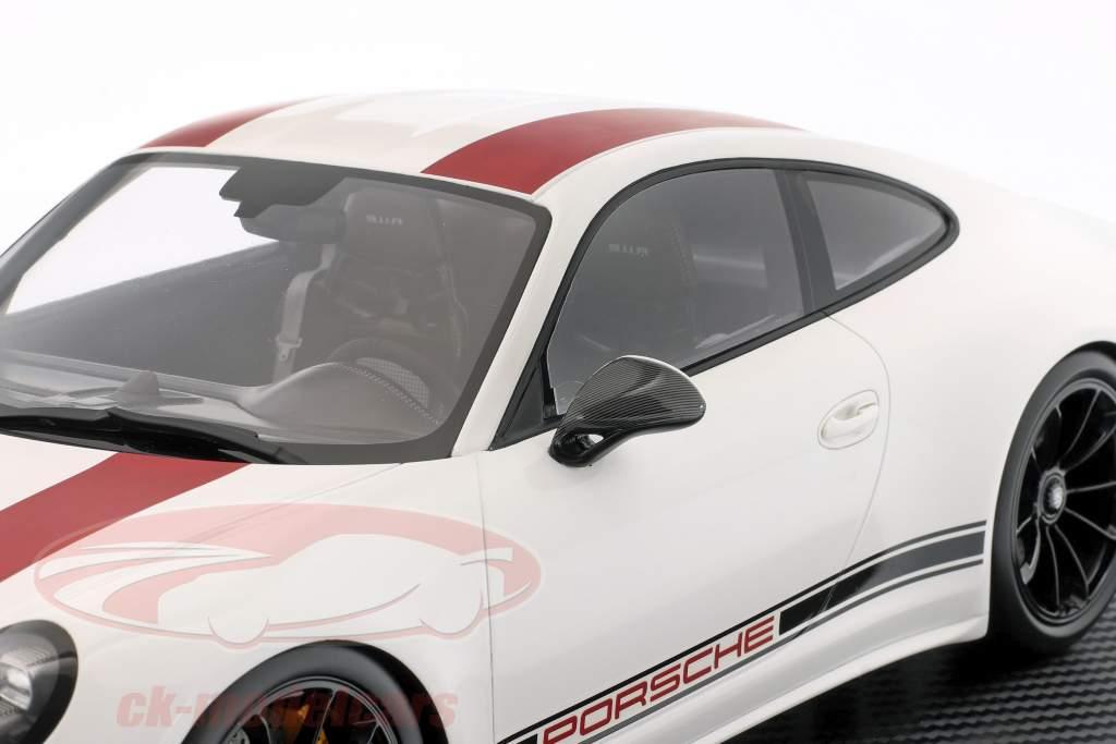 Porsche 911 (991) R Type Anno di costruzione 2016 Con vetrina rosso / bianca 1:12 Spark / 2 ° scelta