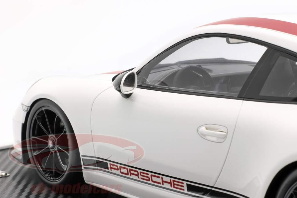 Porsche 911 (991) R Type Année de construction 2016 Avec Vitrine rouge / blanc 1:12 Spark / 2e choix