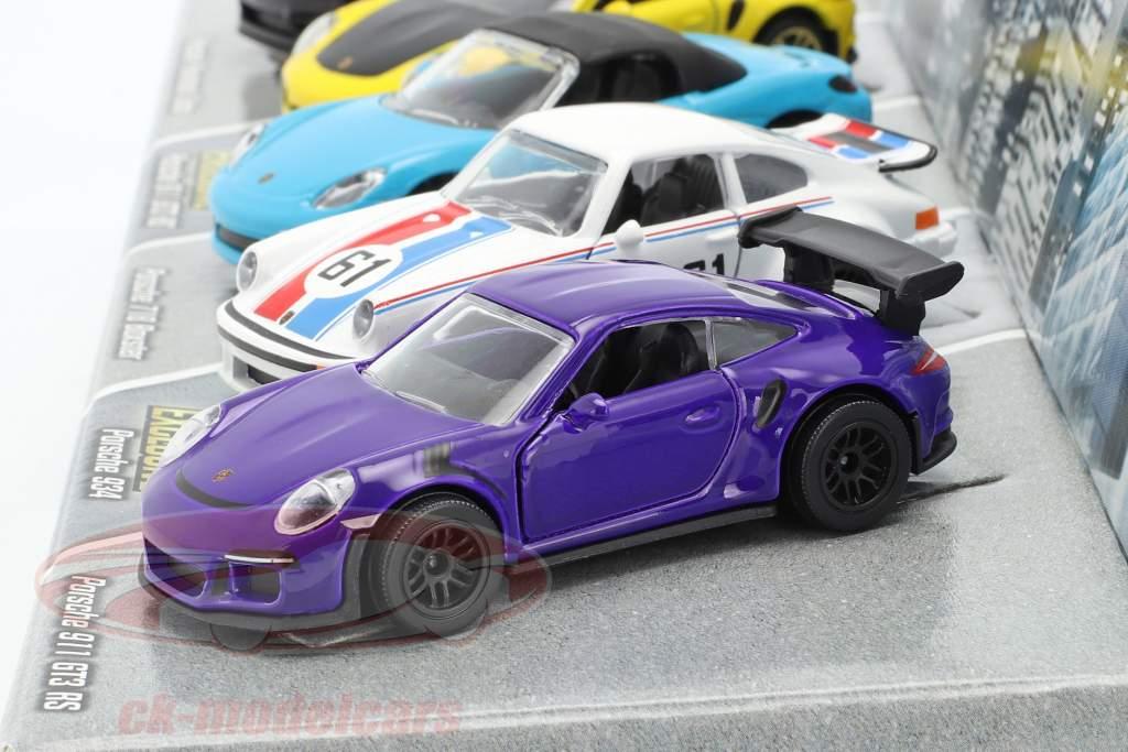5-Car Set Porsche Edition Paquete de regalo 1:64 Majorette