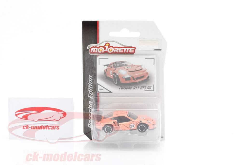 Porsche 911 GT3 RS #23 Pink Pig Design 1:64 Majorette