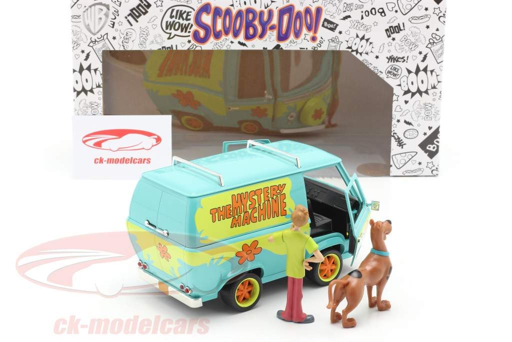 furgão Mystery Machine Com personagens Shaggy & Scooby-Doo 1:24 Jada Toys
