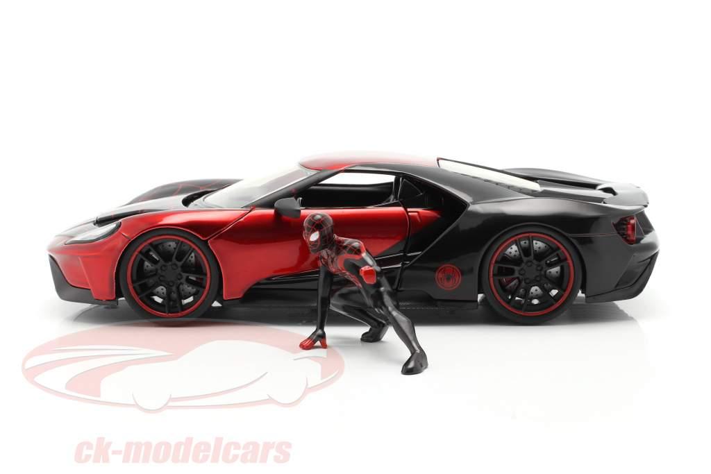 Ford GT 2017 Con Figura Miles Morales Película Spider-Man (2018) 1:24 Jada Toys
