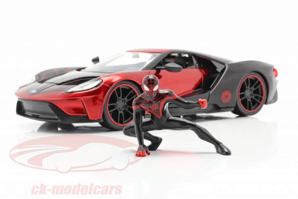 Ford GT 2017 Com Figura Miles Morales Filme Spider-Man (2018) 1:24 Jada Toys