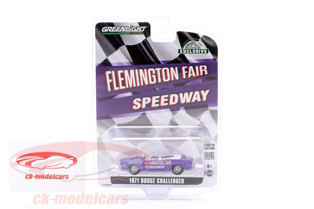 Dodge Challenger Convertible Pace Car Flemington Fair Speedway 1971 viola 1:64 Greenlight