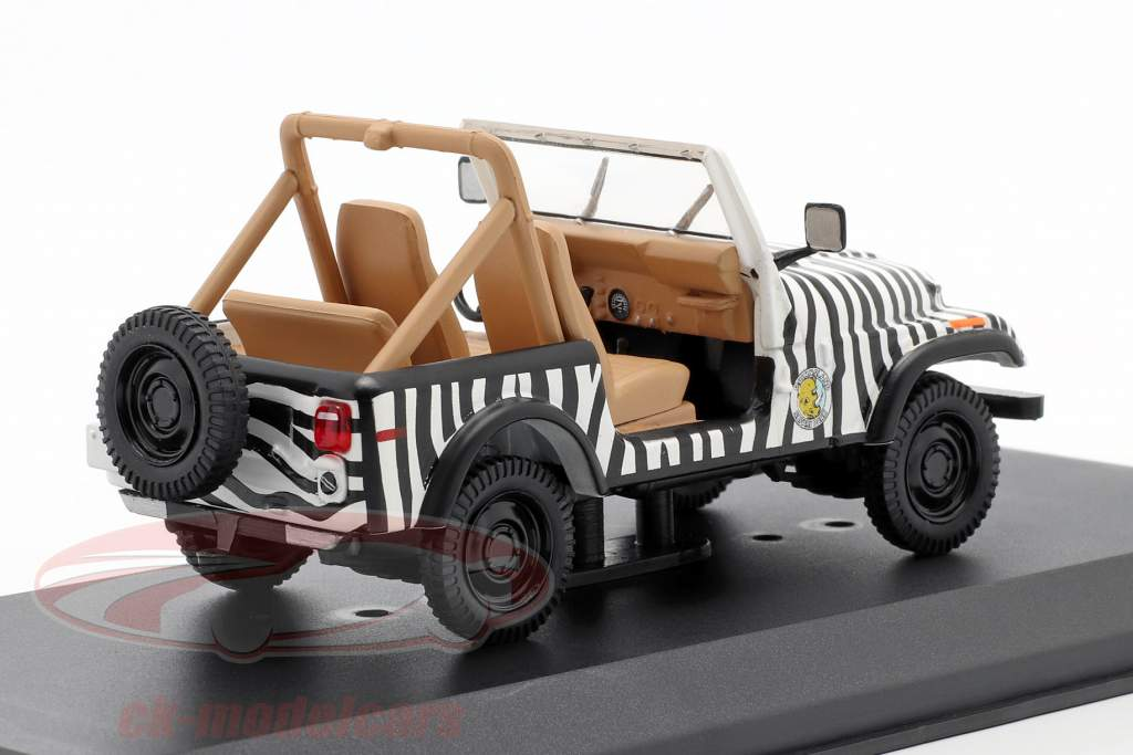 Jeep CJ-7 1976 Película Ace Ventura - When Nature Calls (1995) negro / Blanco 1:43 Greenlight