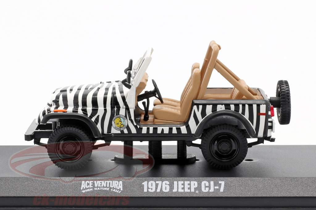Jeep CJ-7 1976 Movie Ace Ventura - When Nature Calls (1995) black / white 1:43 Greenlight