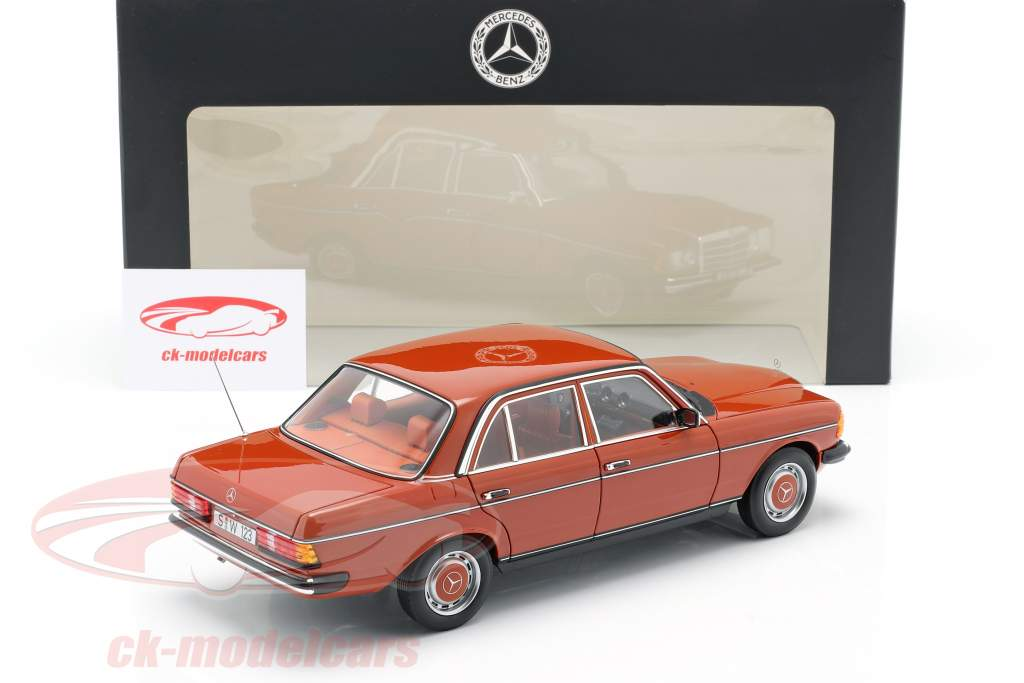 Mercedes-Benz 200 (W123) year 1980 - 1985 english red 1:18 Norev