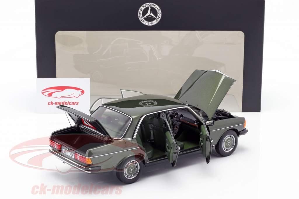Mercedes-Benz 200 (W123) Anno di costruzione 1980 - 1985 cipresso verde metallico 1:18 Norev