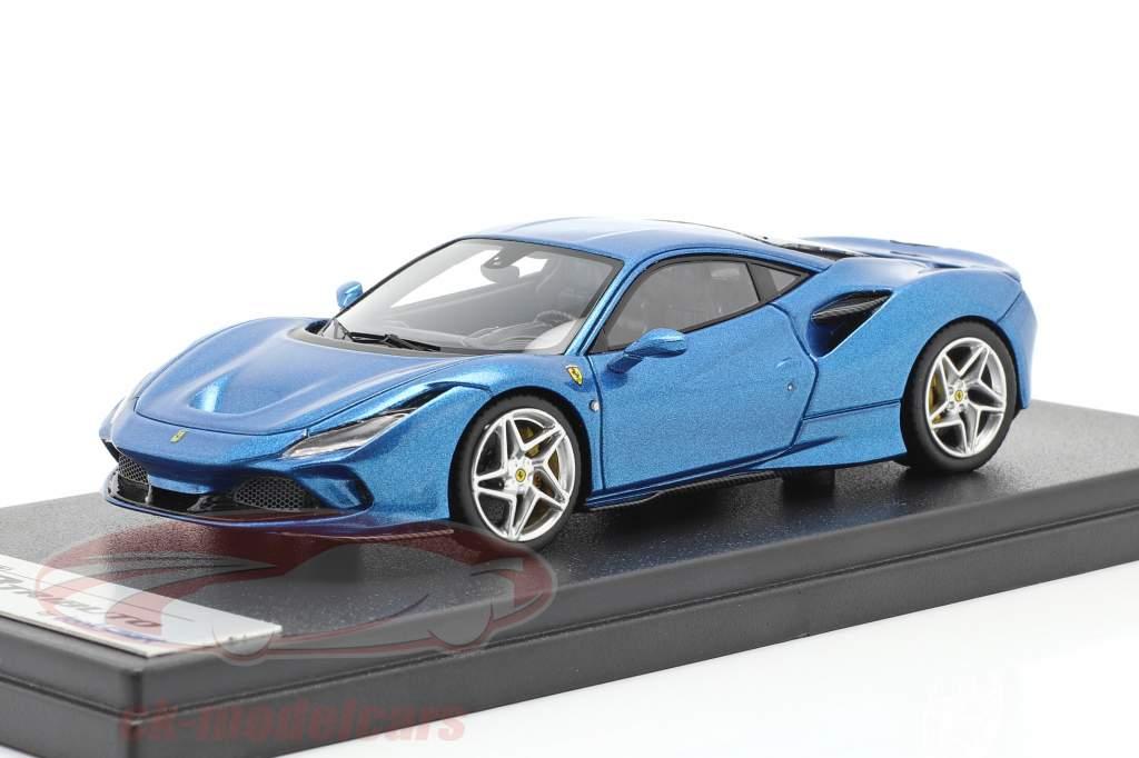 Ferrari F8 Tributo Geneve Motor Show 2019 blå metallisk 1:43 LookSmart