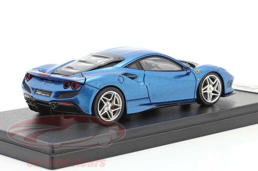 Ferrari F8 Tributo Ginebra Exposición de motores 2019 azul metálico 1:43 LookSmart