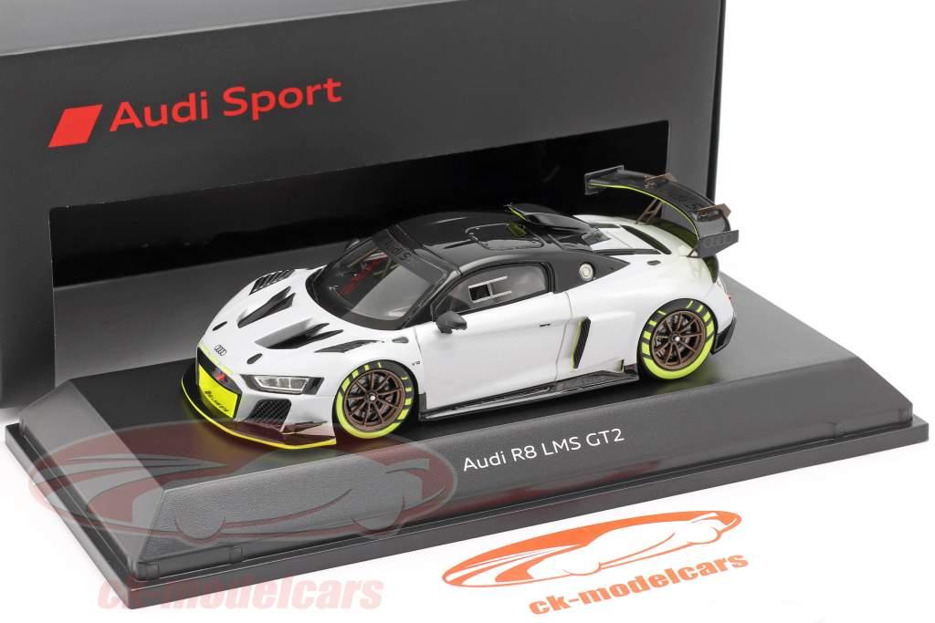 Audi R8 LMS GT2 Presentation Car grau / schwarz / hellgrün 1:43 Spark