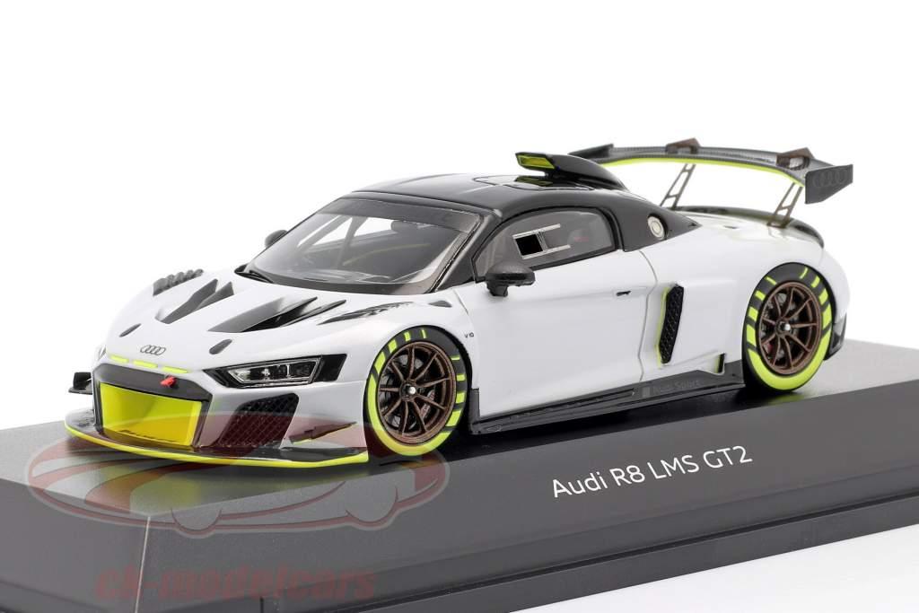 Audi R8 LMS GT2 Presentazione Car Grigio / nero / verde chiaro 1:43 Spark