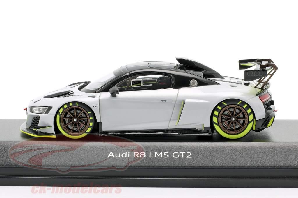 Audi R8 LMS GT2 Presentatie Car Grijs / zwart / licht groen 1:43 Spark
