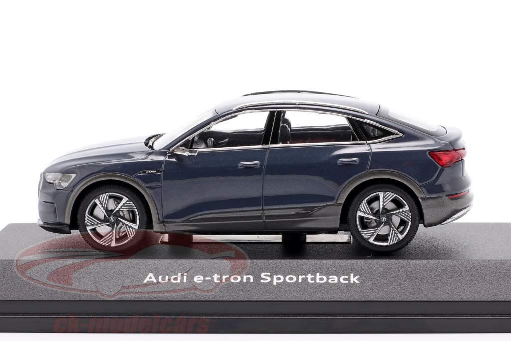 Audi e-tron Sportback Année de construction 2020 plasma bleu 1:43 iScale