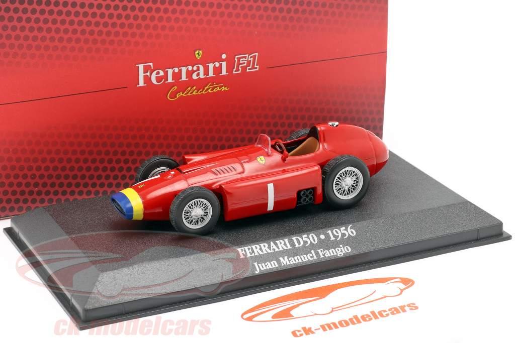 Juan Manuel Fangio Ferrari D50 #1 wereldkampioen formule 1 1956 1:43 Atlas