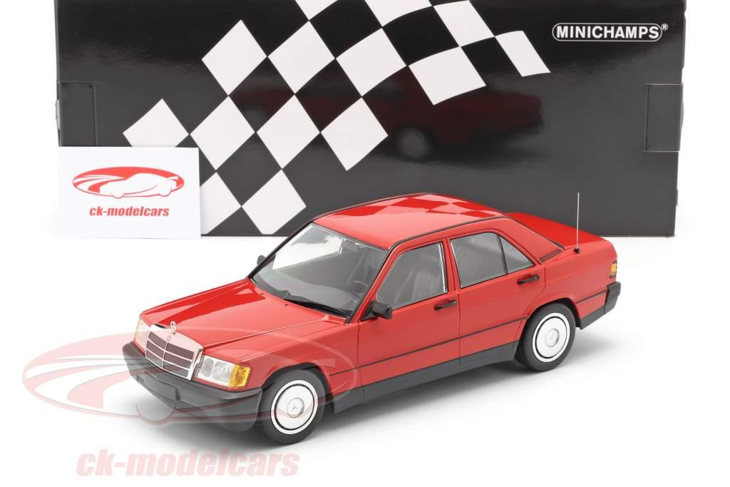 Mercedes-Benz 190E (W201) Année de construction 1982 rouge 1:18 Minichamps