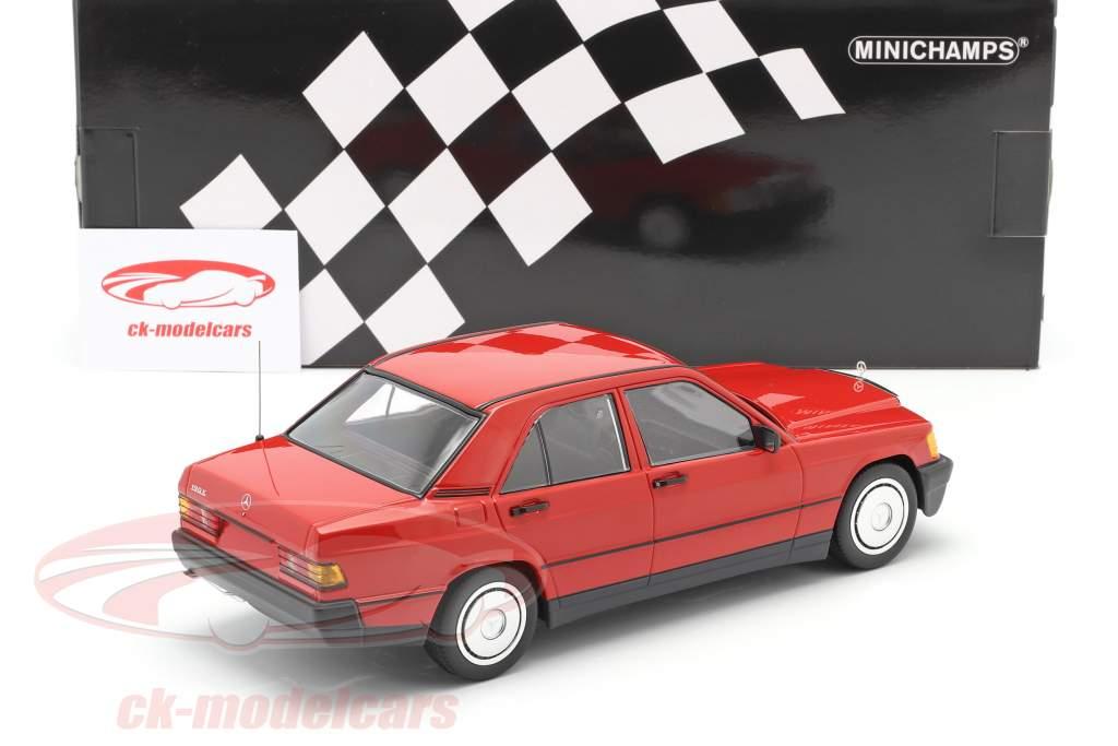 Mercedes-Benz 190E (W201) Anno di costruzione 1982 rosso 1:18 Minichamps