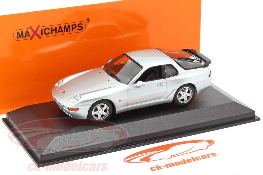 Porsche 968 CS Ano de construção 1993 prata metálico 1:43 Minichamps