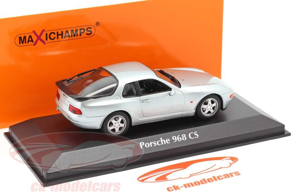 Porsche 968 CS Año de construcción 1993 plata metálico 1:43 Minichamps