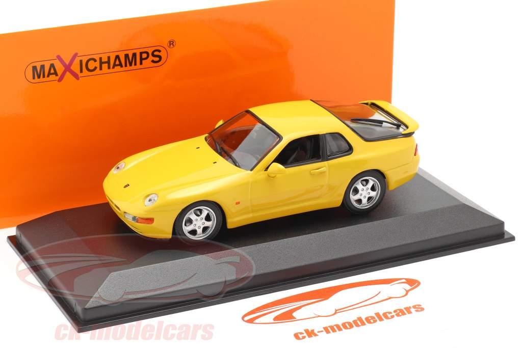 Porsche 968 CS year 1993 yellow 1:43 Minichamps
