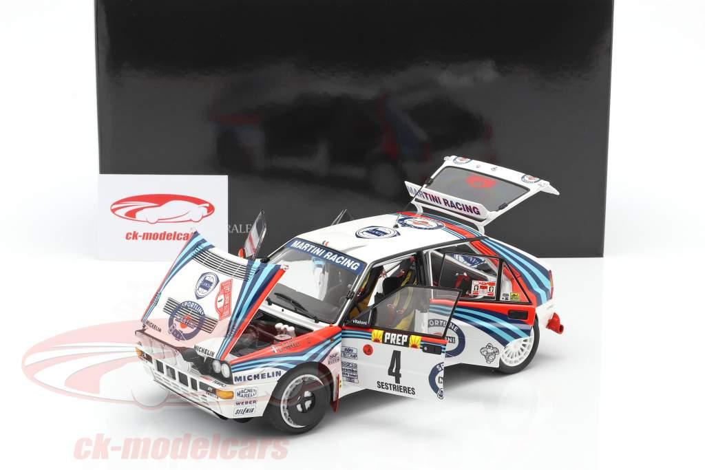 Lancia Delta HF Integrale #4 gagnant Rallye Monte Carlo 1992 Auriol, Occelli 1:18 Kyosho