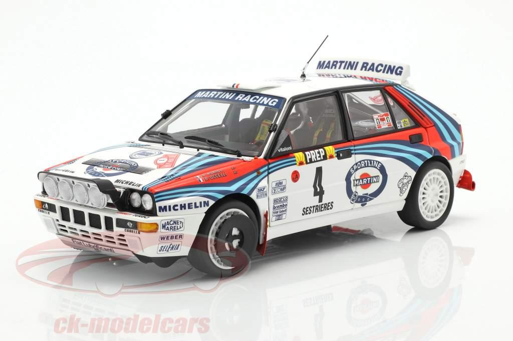 Lancia Delta HF Integrale #4 winnaar Rallye Monte Carlo 1992 Auriol, Occelli 1:18 Kyosho