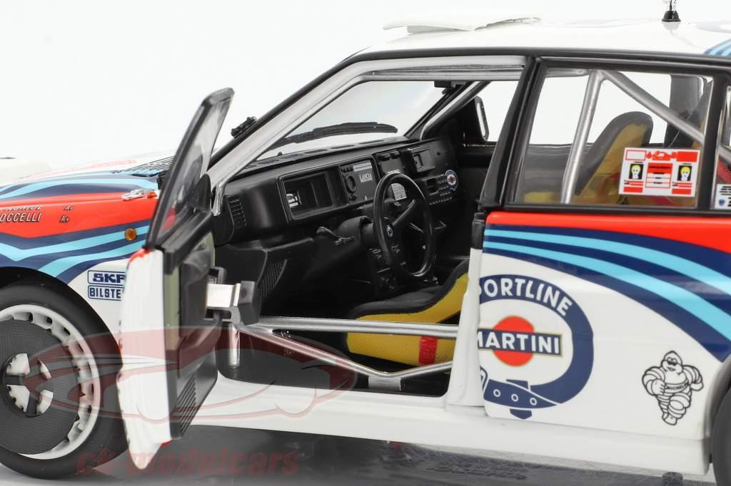 Lancia Delta HF Integrale #4 vinder Rallye Monte Carlo 1992 Auriol, Occelli 1:18 Kyosho